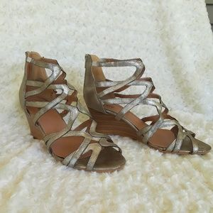 Gold Torrid Wedge sandals
